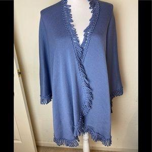Coldwater Creek soft blue shawl/wrap